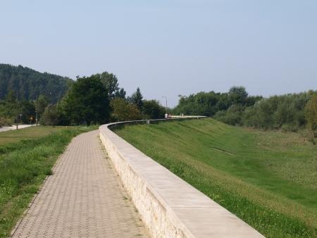 Pavement in Kazimierz Dolny, Poland Stock Photo