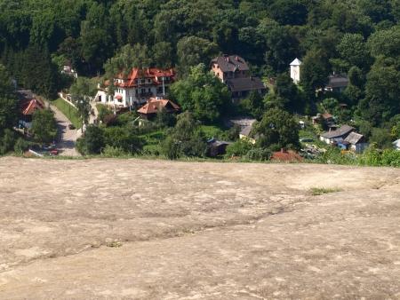kazmierz dolny: Kazimierz Dolny, Poland - July 26, 2008: Houses and buildings in Kazmierz Dolny, Poland