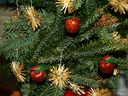 Christmas decoration in christmas tree