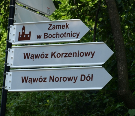 Touristic signpost in Kazimierz Dolny, Poland photo