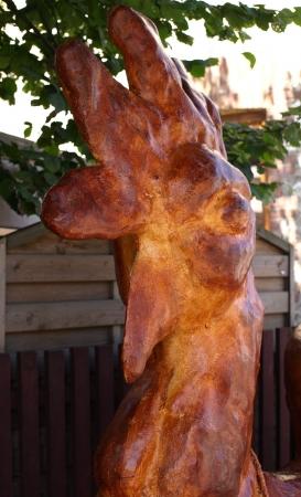 kazmierz dolny: Kazimierz Dolny, Poland - July 25, 2008: Cock traditional sculpture in Kazmierz Dolny, Poland Editorial