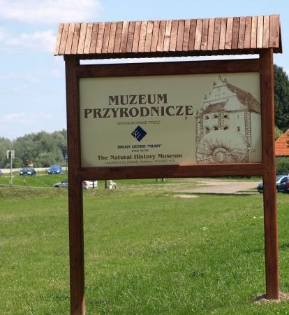 kazmierz dolny: Kazimierz Dolny, Poland - July 27, 2008: Bilboard of Museum of Nature in Kazmierz Dolny, Poland Editorial