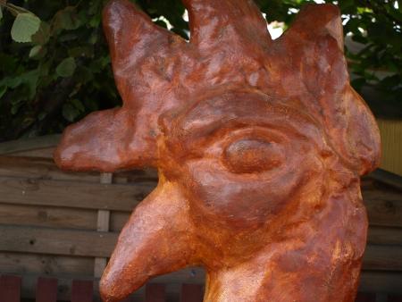 kazmierz dolny: Kazimierz Dolny, Poland - August 15, 2010: Cock traditional sculpture in Kazmierz Dolny, Poland Editorial