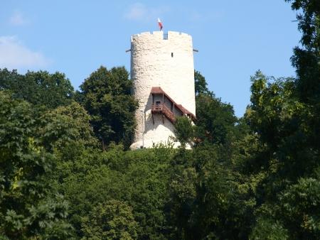 Old stoned tower in Kazimierz Dolny, Poland
