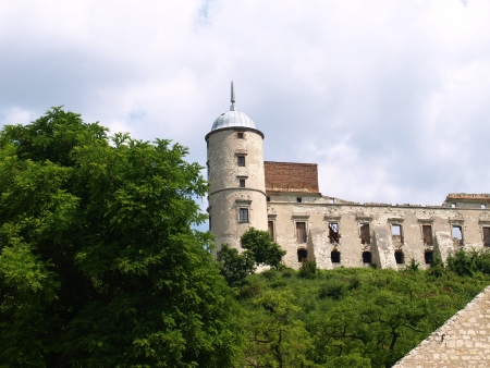 Kazimierz Dolny, Poland - July 08  View from stoned castle in Janowiec, near Kazimierz Dolny on July 08, 2013 in Kazmierz Dolny, Poland Editorial