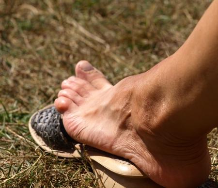 Female foot Stock Photo