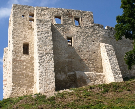 Castle ruins in Kazimierz Dolny in Poland