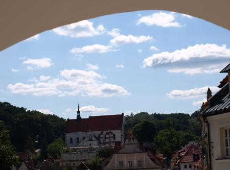kazmierz dolny: Kazimierz Dolny, Poland - July 08  Old Market Place in Kazimierz Dolny on July 08, 2013 in Kazmierz Dolny, Poland