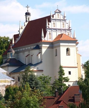 kazmierz dolny: Kazimierz Dolny, Poland - July 08  Old church near Old Market place in Kazimierz Dolny on July 08, 2013 in Kazmierz Dolny, Poland