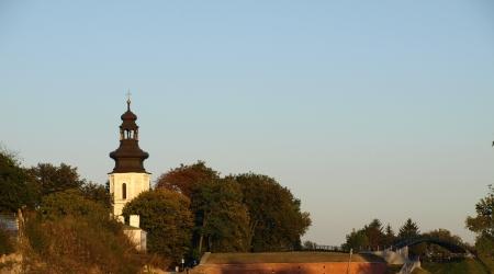 Zamosc, Poland - September 08  Old Catholic church with tall tower in Zamosc on September 09, 2013 in Zamosc, Poland