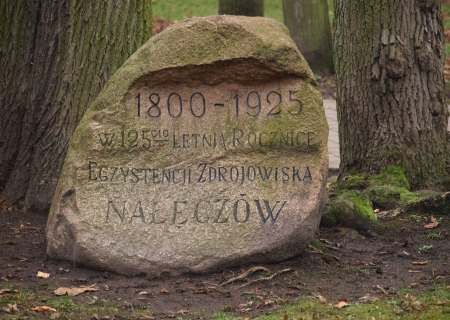 stoned: Naleczow, Poland - November 11  Old stoned monument with inscription on November 11, 2013 in Naleczow, Poland