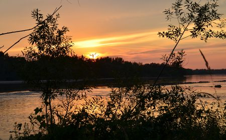 Sunset and river