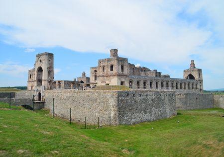 Ujazd, Poland - May 29, 2016: Castle ruins Krzyztopor in Ujazd near Opatow in Poland Editorial