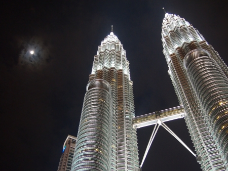 Petronas at night Editorial