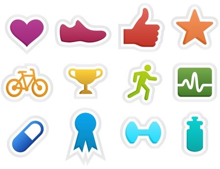 Fitness Icons Vectores