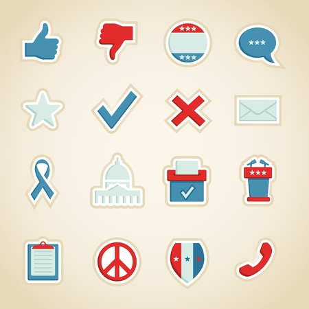 voting: Politische Symbole Illustration