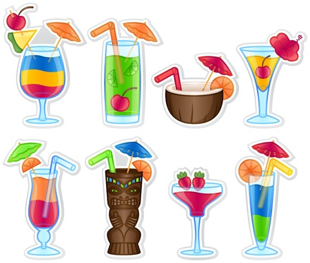 Tropical Drinks Stock Vector - 11187278