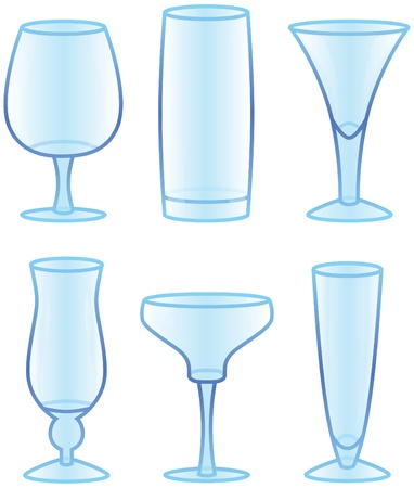 Drink and Beverage Glasses Vector