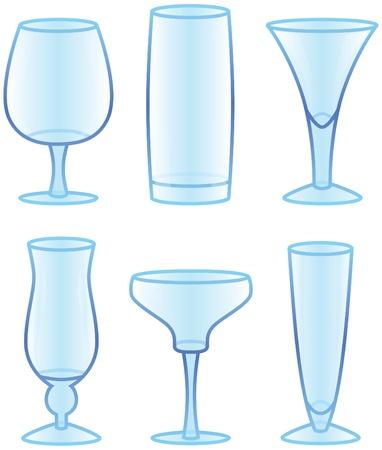 Drink and Beverage Glasses Ilustração
