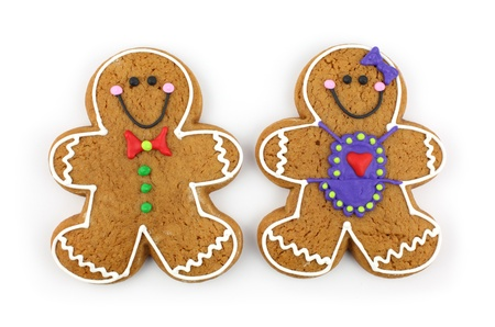 Gingerbread Cookie Couple photo