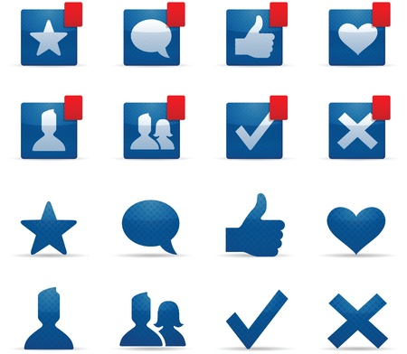 man vrouw symbool: Social Networking Iconen Stock Illustratie