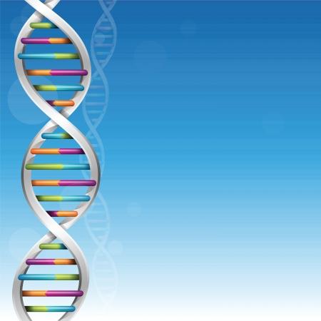 DNA Achtergrond Vector Illustratie
