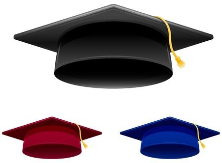 卒業帽子  イラスト・ベクター素材
