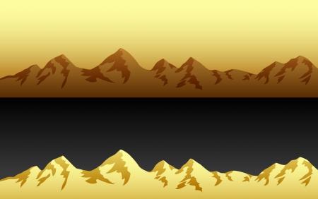 Mountain Landscape Ilustrace