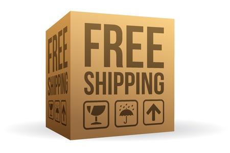 Free Shipping Box Vector