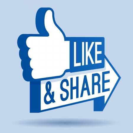 Al igual and Share Thumbs Up Symbol