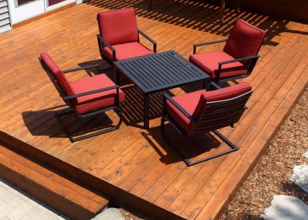 decking: Backyard Deck