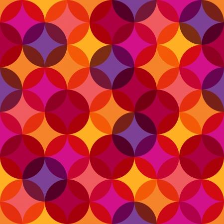 repeatable texture: Seamless patr�n del c�rculo abstracto Vectores