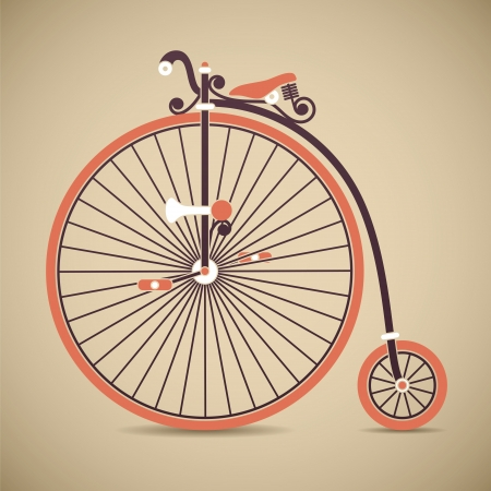 Vintage Penny Farthing Bicycle Vector