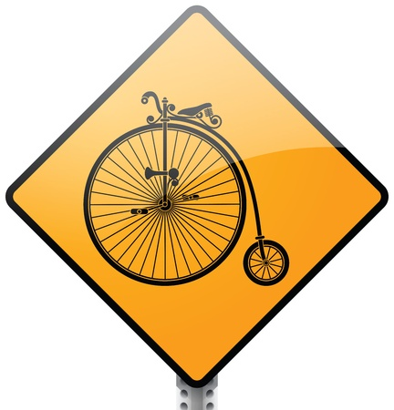 Retro Bicycle Sign Stock Vector - 20760289