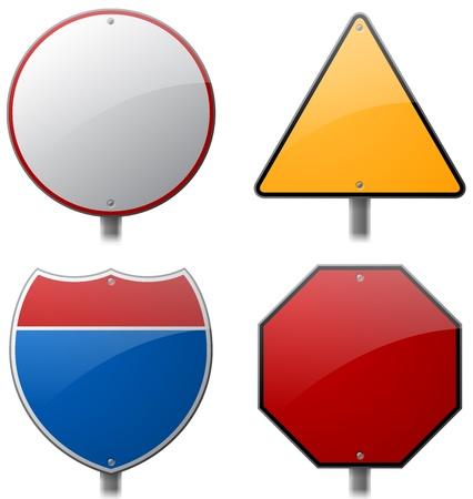 Leeg Verkeersborden Stock Illustratie