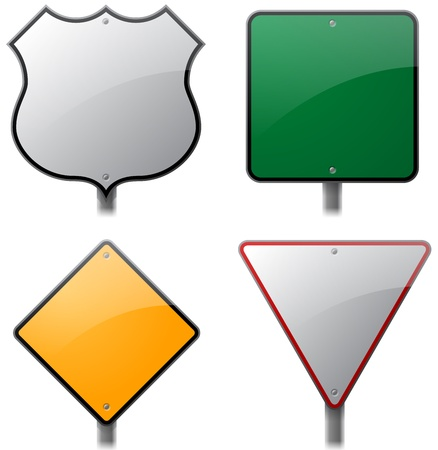 Road and Street Signs Vector