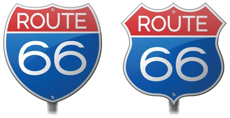 Route 66 Signs Ilustração