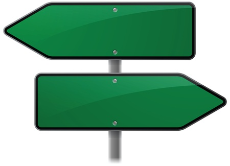 Green Choice Options Sign Vector