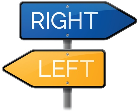 Right or Left Sign Stock Vector - 20922442