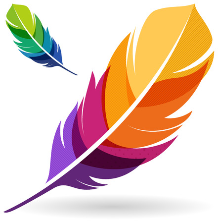 Colorful Feathers Vector