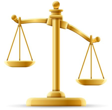 Isoliert Gerechtigkeit Maßstab Konzept mit Platz für Text Vektorgrafik