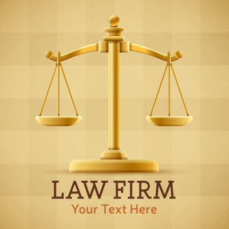 firm: Law firm justice scale background concept with space for text