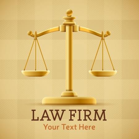 fermo: Studio legale scala della giustizia concetto di fondo con spazio per il testo Vettoriali