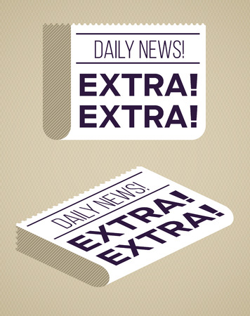 Flat newspaper designs. Vector