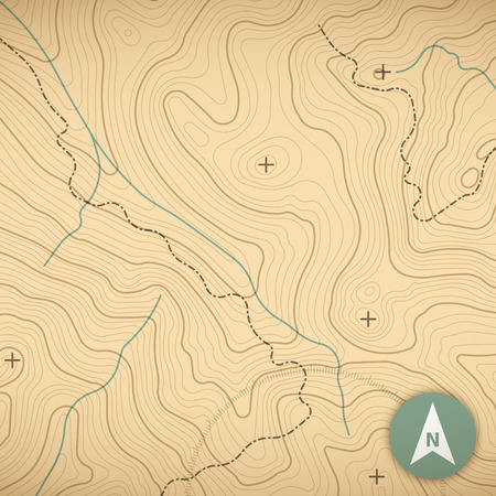 physical geography: Topographic map background concept with space for your copy.