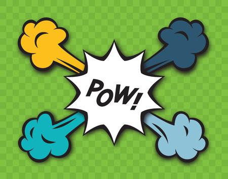 Comic pow explosion Vector