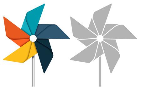 MOLINOS DE VIENTO: Concepto Pinwheel ilustración.