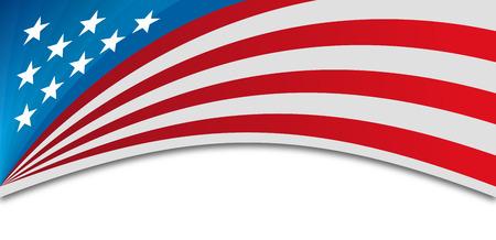 USA banner background.