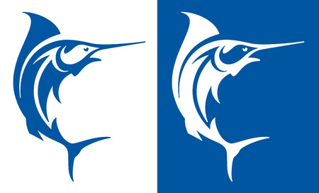 Marlin fish deep sea fishing symbol.