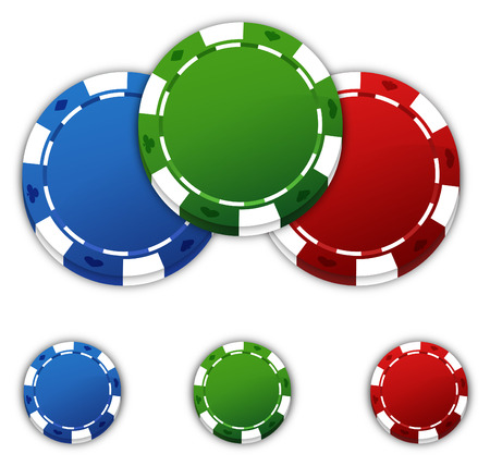 Poker chips with space for copy